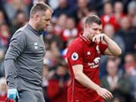 james milner boost for liverpool as evergreen star makes quick recovery from hamstring injury