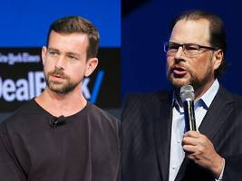 salesforce ceo marc benioff on his twitter beef with jack dorsey: you're either 'for the homeless' or 'you're for yourself' (crm, twtr)