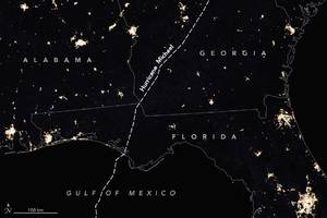 NASA photo shows where Hurricane Michael turned out the lights