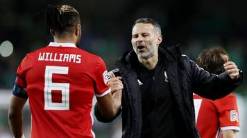 wales boss ryan giggs praises 'outstanding' captain ashley williams