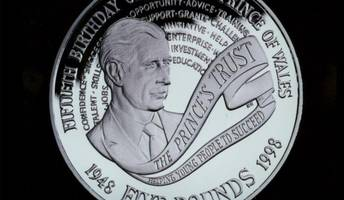 prince charles' 70th birthday marked with £5 coin