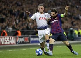 barcelona join manchester united in january race for spurs defender as contract runs down