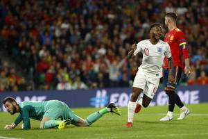 raheem sterling admits scoring first england goal for three years was 'a beautiful feeling' after ...