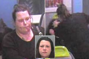 terrifying moment woman stabs friend for four minutes on train before victim's found crawling through carriage