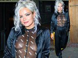 lily allen leaves nothing to the imagination as she goes braless