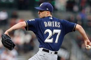 brewers' davies takes place of gonzalez on nlcs roster