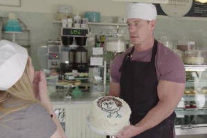 exclusive video: john cena is going to ruin this poor hypnotized baker's day in 'double take' premiere
