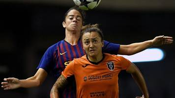 glasgow city thrashed by barcelona in women's champions league