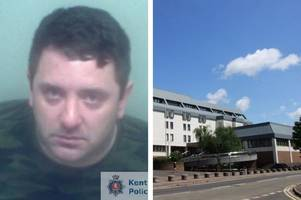 medway thugs pressed an iron to their victim's face and threw him in bleach-filled bath
