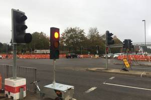 Broken Guildford Stoke crossroads lights causing traffic but council still don't know why they're broken