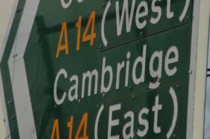 Eight mile queues on A14 westbound as traffic brought to standstill