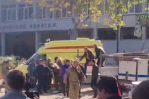 crimea college rampage 'not terror related' after 'student gunman leaves 17 dead and dozens injured'