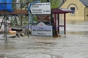 £100,000 hardship fund to help people affected by storm callum flooding in carmarthenshire