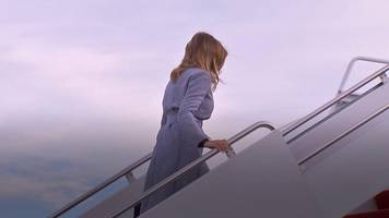 Melania Trump's flight forced to land after smoke fills plane cabin
