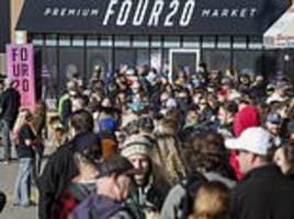 Canada pot stores run out of supplies and have more long lines on second day of weed legalization