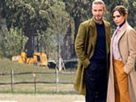 David and Victoria Beckham's £6million Cotswolds home: Work begins on their two-tier country garden
