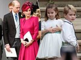 kate middleton beams as she sees prince george and princess charlotte arrive at the royal wedding