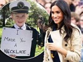 Royal tour: Meghan Markle wears necklace made from pasta and ribbon