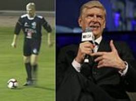 arsene wenger gets his boots out at the age of 68 to take part in charity match
