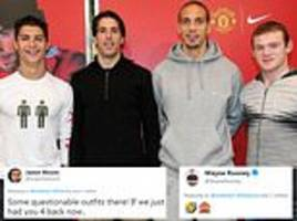 rio ferdinand posts throwback picture with van nistelrooy, ronaldo and rooney