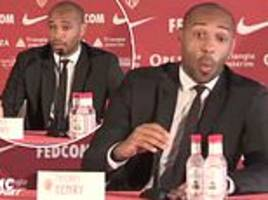 Thierry Henry cuts animated figure in official Monaco unveiling