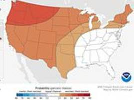wet and mild: warm winter predicted for much of the us