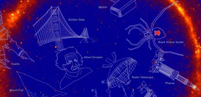 nasa scientists created 21 new constellations for the invisible night sky — including albert einstein, godzilla, and starship enterprise