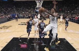 derozan, aldridge lead spurs past timberwolves