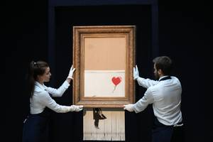 New Banksy video shows Girl with Balloon should have been totally shredded