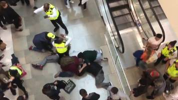 man arrested over westfield shopping centre 'fall'