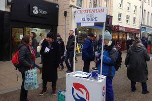 why police spoke to cheltenham for europe about plans for a street stall as john lewis opened