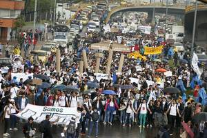 Thousands Of Colombian Students, Teachers Protest Cuts To Education Funding