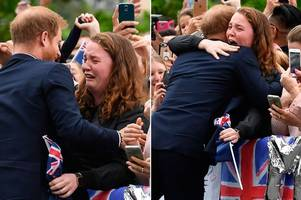 prince harry's kind gesture to sobbing teenager - even though he knew it would 'get him into trouble'