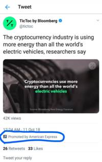 redditors accuse amex of sponsoring anti-crypto tweets, but proof inconclusive