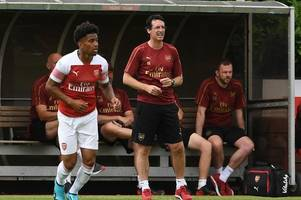 Unai Emery stages training ground match at London Colney as Arsenal stars take on the Under-23s