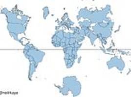 incredible 'to scale' graphic reveals russia, canada and greenland are not as big as you think