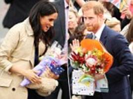 Royal tour: What Prince Harry and Meghan Markle DO with all of the fan gifts they've been given