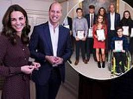 kate middleton and prince william host radio 1 teen heroes