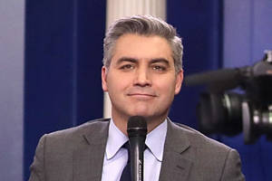 cnn's jim acosta apologizes after saying 'f– you' to twitter troll