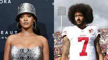 rihanna 'declined super bowl half-time show gig in support for kaepernick'