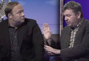 alex jones goes nuts on the bbc and host calls him an idiot and the worst person ever interviewed