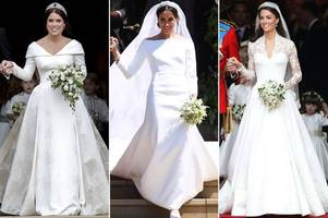 meghan markle, princess eugenie and kate middleton all used this £7.99 tip from the queen at their weddings