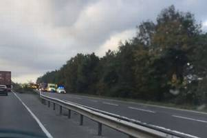 A12 traffic: Video shows huge emergency service presence at scene of crash