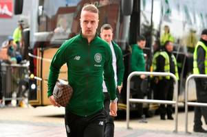 celtic striker leigh griffiths misses training through illness but could still face hibs