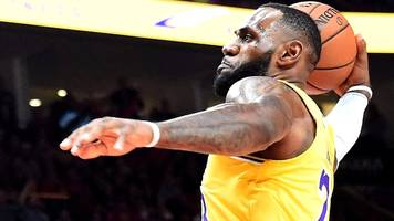 NBA: LeBron James scores first points for LA Lakers