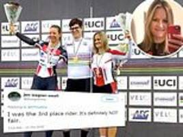 American cyclist lashes out after losing world championship to trans woman who won't accept apology
