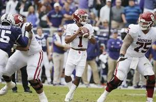 No. 9 Oklahoma rebounds from only loss with 52-27 win at TCU