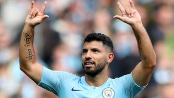 Man City 5-0 Burnley: Champions go two points clear at top of table