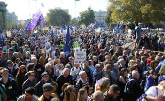 people's vote march: campaigners take over london's streets