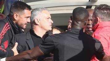 mourinho in touchline melee as chelsea score late to draw with man utd